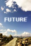 Trajeto futuro Fotografia de Stock