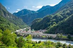 Trajeto Itália do ciclo de Alpe Adria fotos de stock royalty free