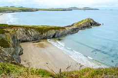 Trajeto litoral de Pembrokeshire - Gales, Reino Unido fotos de stock