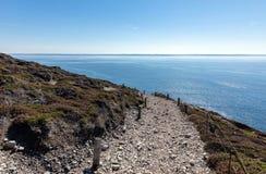 Trajeto litoral do tampão de la Chevre fotos de stock
