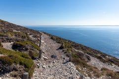 Trajeto litoral do tampão de la Chevre fotografia de stock royalty free