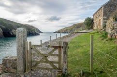 Trajeto litoral em torno do quin do porto perto do porto Isaac Cornualha Inglaterra Reino Unido Fotografia de Stock Royalty Free