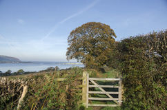 Trajeto litoral ocidental de Gales Fotografia de Stock Royalty Free