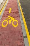 Trajeto marcado da bicicleta foto de stock royalty free