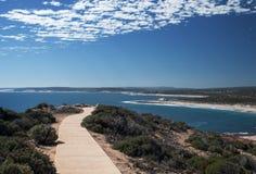 Trajeto na costa do parque nacional de Kalbarri, WA, Austrália Ocidental, Oceano Índico foto de stock royalty free