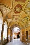 Trajeto na parede da fortaleza de Castel Sant'Angelo imagem de stock