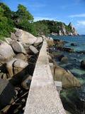 Trajeto na praia Fotos de Stock Royalty Free