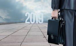 trajeto novo de 2019 anos no negócio foto de stock