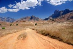 Trajeto que conduz nas montanhas de Andringitra Fotos de Stock