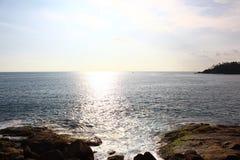 Trajeto solar no Oceano Índico, Mirissa, Sri Lanka Foto de Stock Royalty Free
