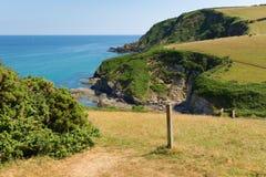 Trajeto sul da costa oeste de Pentewan para Mevagissey Cornualha Inglaterra Foto de Stock Royalty Free