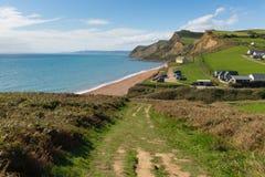 Trajeto sul Eype Dorset Inglaterra Reino Unido da costa oeste Fotografia de Stock Royalty Free