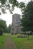 Trajeto a uma igreja rural Fotografia de Stock Royalty Free