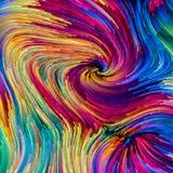 Trajetos coloridos da pintura ilustração do vetor