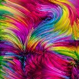 Trajetos coloridos da pintura ilustração stock