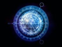 Trajetos da geometria sagrado Imagens de Stock