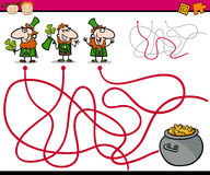 Trajetos ou jogo dos desenhos animados do labirinto Imagem de Stock Royalty Free