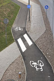 Trajetos para o ser humano e as bicicletas Foto de Stock