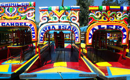 Trajineras de Xochimilco Stockbild