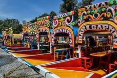 Trajineras de Xochimilco Fotos de archivo