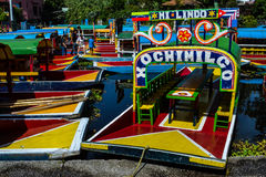 Trajineras de Xochimilco Royalty Free Stock Photo