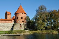 Trakai城堡,立陶宛塔  库存照片