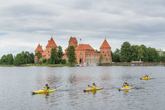 Trakai,立陶宛 夏天2013 库存照片