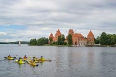 Trakai, Литва Summer-2013 стоковое изображение