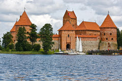 Trakai. Island Castle in Lithuania. The construction of the stone castle was begun in the 14th century Royalty Free Stock Photography