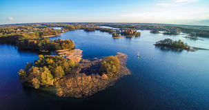 Trakai aerial Royalty Free Stock Photography