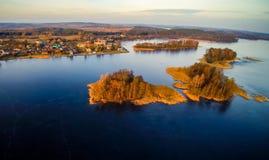 Trakai aerial view Royalty Free Stock Photo