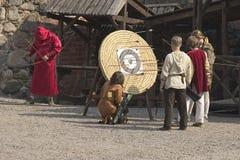 Trakai Bogenschützen Stockfotos