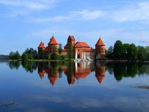 Trakai - castello fotografia stock libera da diritti
