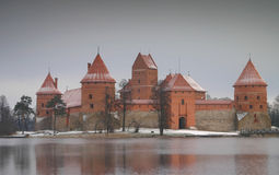 Trakai Castle. Just outside Vilnius, is a beautiful location in both summer and winter royalty free stock image