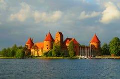 Trakai Castle. View on Trakai castle across lake, Trakai, Lithuania Royalty Free Stock Photography