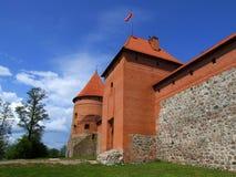 Trakai - castle. Trakai - entrance to the castle on the water Royalty Free Stock Photos