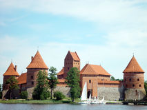 Trakai castle. In Lithuania stock photo