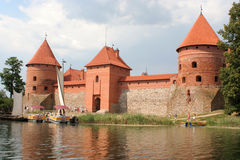 Trakai castle. Castle in Europe Royalty Free Stock Images