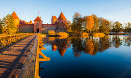 Trakai castle fall season Royalty Free Stock Photos