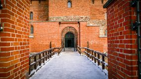 Trakai Castle Fort Lithuania Eastern Europe. Shots taken in winter of this amazing castle including the lake freezing to allow more unsual angles of the castle Stock Image