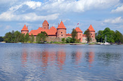 Trakai castle Galve lake in Lithuania. XIV - XV Royalty Free Stock Image