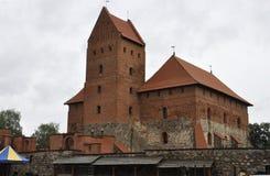 Trakai Castle from Island Trakai in Lithuania Stock Image