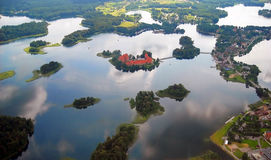 Trakai castle in the lake Stock Photography