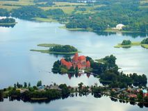 Trakai castle in the lake Stock Images