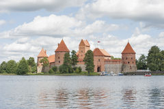 Trakai Castle on Lake Galve (Lithuania). Stock Images