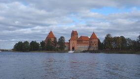 Trakai castle on the lakes is visited by hundreds of thousands of tourists every year