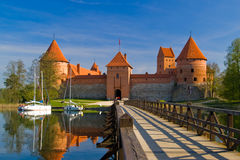 Trakai castle in Lithuania. Island castle in Trakai, one of the most popular touristic destinations in Lithuania Stock Photography