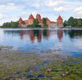 Trakai castle, Lithuania. Island castle in Trakai,one of the most popular touristic destinations in Lithuania, houses a museum and a cultural center. 14th Royalty Free Stock Photography