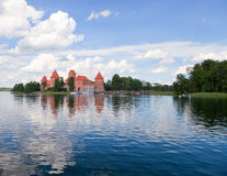 Trakai castle, Lithuania. Island castle in Trakai,one of the most popular touristic destinations in Lithuania, houses a museum and a cultural center. 14th Stock Photo