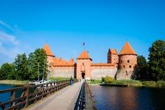 Trakai Castle, Lithuania. Bridge to the Trakai Castle near Vilnius Royalty Free Stock Image